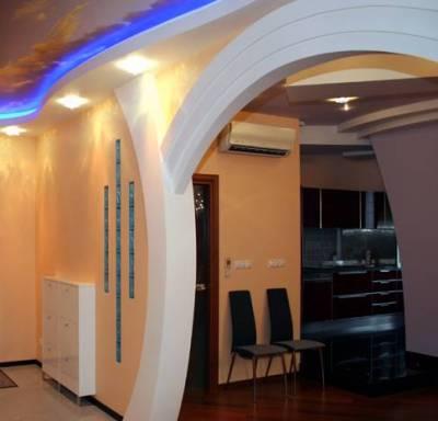 Декор помещений в Тюмени: как сделать арку из гипсокартона?