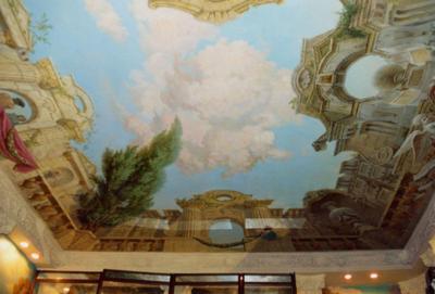 Художественная роспись потолков в Тюмени